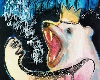 Freedom of speech, original painting