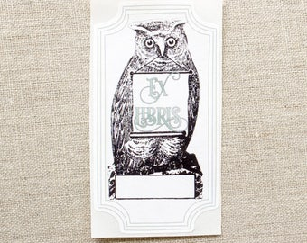 owl book plates - bird bookplate stickers - ex libris - personalized book labels - gift for book lovers - gift under 20 - bookworm for her