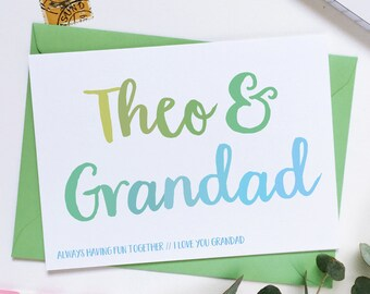 Grandad And Me Personalised Father's Day Card - Grandad Keepsake Card - Father's Day Card - Child And Grandad Card - Card For Grandads