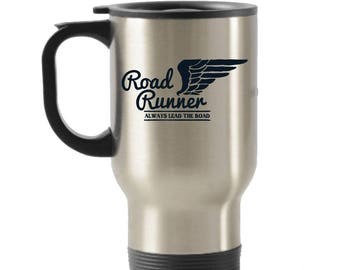 Road Runner Stainless Steel Insulated Travel Mug with Lid