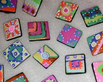 29 handpainted LITTLE ART ceramic magnets