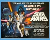 Star Wars Inspired Personalized Birthday Party DIY Printable Invitation