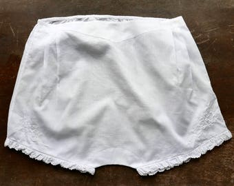 "Antique White Cotton Girl's Undergarment 28"" Waist"