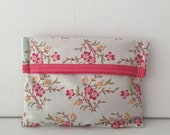 Notions Pouch Fold Over - Notions Pouch - Notions Bag - Make-up Pouch - Make-up Bag - Needlepoint Bag - Embroidery Bag