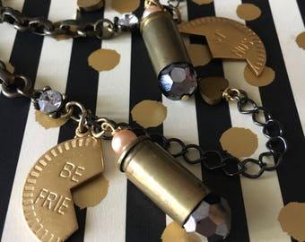 Best Friend Charm Bracelets, Matching BFF Bracelets, Bullet Charm Bracelet