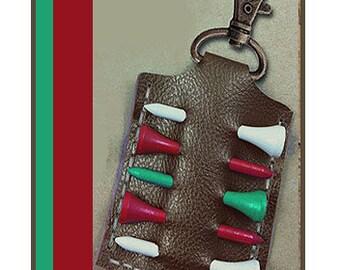 Faux Leather Golf Tee Holder Digital SVG Cut File, pattern, Mens, Womens Unisex Gift, Cricut, Silhouette, Golfing Golfer DIY Faux Leather