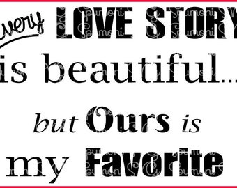 Love Story 2 SVG Digital Cut Files for Cricut, Silhouette Machines, Couples, Married, Mr. Mrs., Signage, Signs, Digital Valentines  Cut File