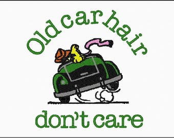 Old Car Hair Hat or Tote Embroidery Design
