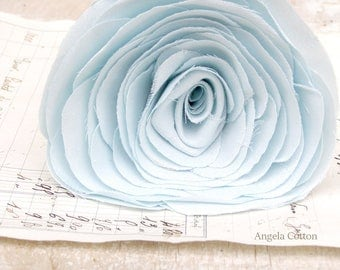 2nd Anniversary Cotton Flower Light Blue  Gift for Her Wife Second Wedding Anniversary. Payment via Paypal preferred