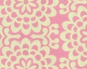 Amy Butler Wallflower Pink Fabric - REMNANT Size 23 Inches by 44 Inches