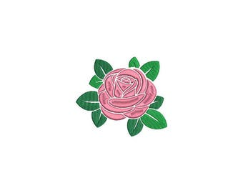 Satin Rose Machine Embroidery File design - 4 x 4 inch hoop - Rosette - Rose Silhouette