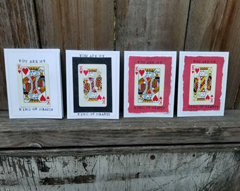 You Are My King of Hearts - Blank Greeting Card - Upcycled Playing Card - FREE SHIPPING