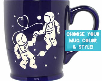 Astronaut Love Mug - Choose Your Cup Color
