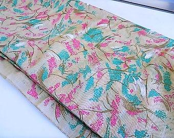 Vintage Semi Sheer Organza Asian Oriental Design Fabric