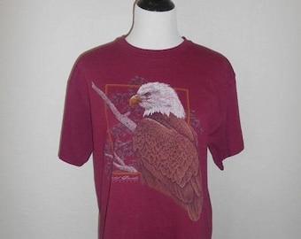 Closing shop SALE 40% off Vintage top tee t shirt         Bald Eagle                         clothing clothes