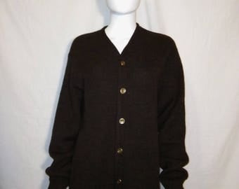 Closing Shop 40%off SALE Wool Cardigan Sweater, 60s Cardigan button sweater