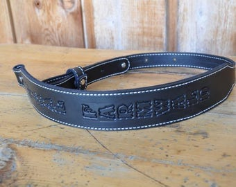 Rifle-Gun-Sling-Personalized-Custom-Quality-Leather-Amish-Made-Adjustable-NEW