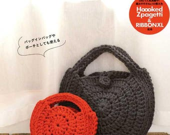 Crochet Bags and More with Hoooked Zpagetti for Grown Ups and Children - Japanese Craft Pattern Book