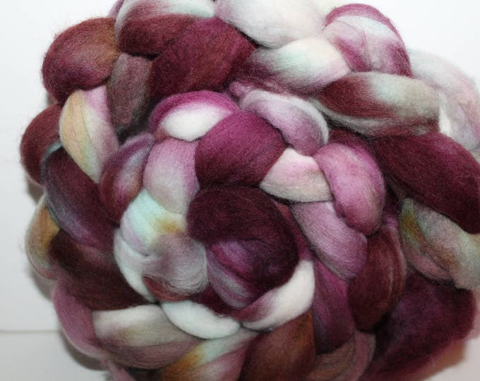 Kettle Dyed Merino Wool Top. Super fine. 19 micron  Soft and easy to spin. 4oz  Braid. Spin. Felt. Roving. M243