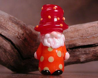 Artisan Glass Gnome Focal Bead Divine Spark Designs SRA