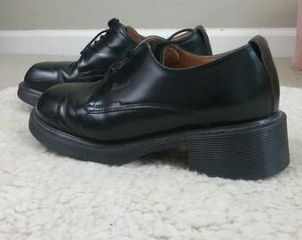 Vintage 90s black Dr. Martens oxford double stack shoes