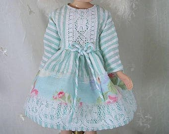 Blythe Doll Dress,  Blythe Dress. Long Sleeves, Seersucker