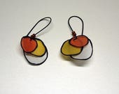 Silk earrings - Circles