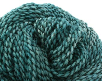 Middlefield Hand Dyed aran weight wool alpaca blend 200 yds 4oz Aegean