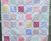 "Reserved for Christine Custom Order Quilt 50"" x 50"" Using Your Baby Clothes"