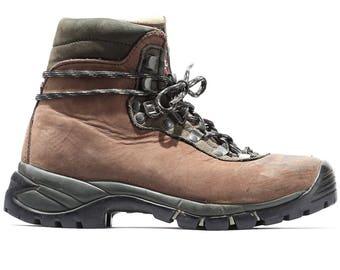 US wom 6 Raichle Hiking Trekking Boots Alpine Platform 80s Brown Nubuck Leather Boots Wild TRAIL Camping Boots Mountaineering Eu 36.5 UK 3.5