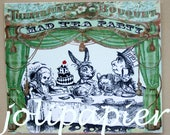 Custom Order for Kate:  Mad Tea Party Card Invitations Set