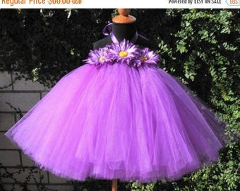 "SUMMER SALE 20% OFF Purple Tutu Dress for Baby, Toddler, Girls - Perfectly Plum - Custom Sewn Tutu Dress - up to 24 months and 20"" long - Fi"