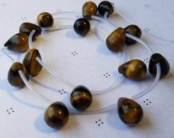 Tiger eye tear drop beads 17 inch