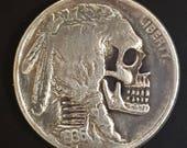 Hobo Nickel Skull Drilled