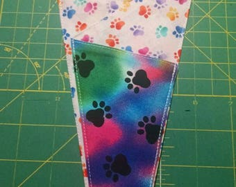 New item by Trulyn2stitching Designs. Trifold scissor keeper. Paw prints