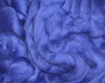 Superwash Roving 4 Ounces  Electric Blue