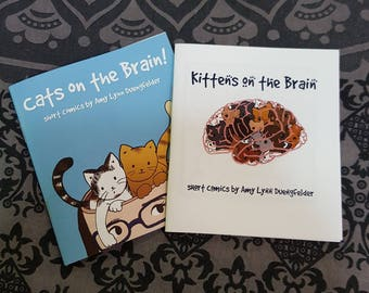 Kittens and Cats on the Brain - set of two mini comics