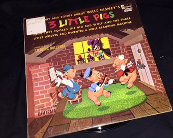 1960's Three Little Pigs Record Album