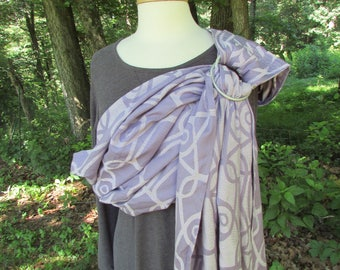 Wrap Conversion, Ring Sling, Baby Sling Carrier, WCRS - Newborn, Toddler Sling, Little Frog Lilac Vision, Lavender, Pleated - DVD included