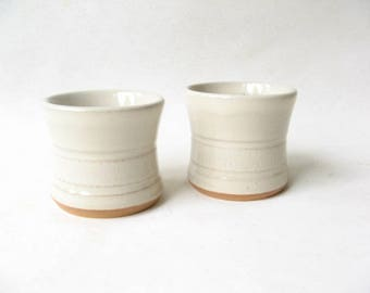 Pottery Shot Glasses Set of 2, Pair of Whiskey Cups