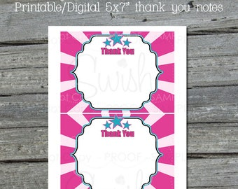 Ninja Thank you notes | Printable thank you cards | ninja digital party supplies | 5x7 printable Thank you card note | Instant Download