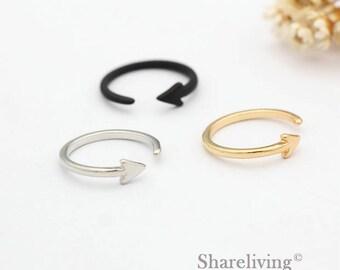 2pcs Silver, Golden, Black Arrow Ring, Nickel Free, High Quality Brass Arrow Rings