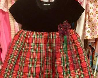 90s Plaid Dress 12/18 Months