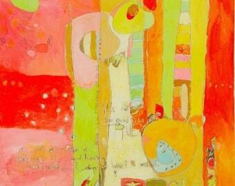 Abstract Canvas Art Print by Jennifer Mercede 'Prolifik'