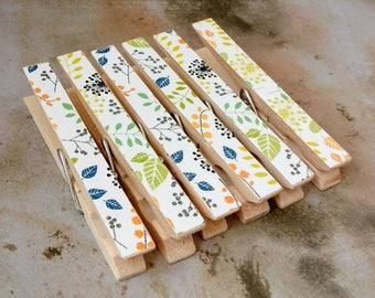 Decorative Clips, Decorative Clothespins, Clothespins, Decorative Magnets, Magnets, Photo Clips, Bag Clips, Floral Magnets