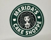 Meridas Cake Shoppe Sticker Decal - Cute Stickers - Stickers and Decals for laptops, vehicles, tumblers, phones, etc.