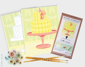 butterfly pedestal cake - 8x10 paint-by-number kit