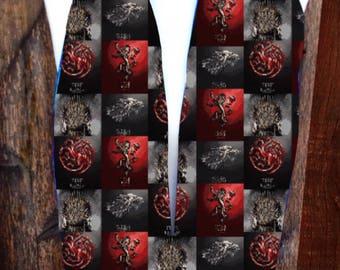 Game of Thrones Men's Fleece scarf, Game of thrones scarves,House Stark, Dragons,House Targarean, Sci-Fi scarves, geek scarves