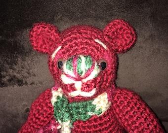 Christmas crocheted bear