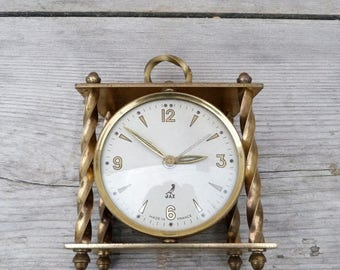ON SALE Vintage Antique 1920/1930 French Alarm Clock 1920 JAZ Paris